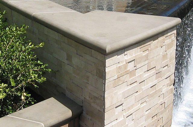 precast concrete wall cap hardscape