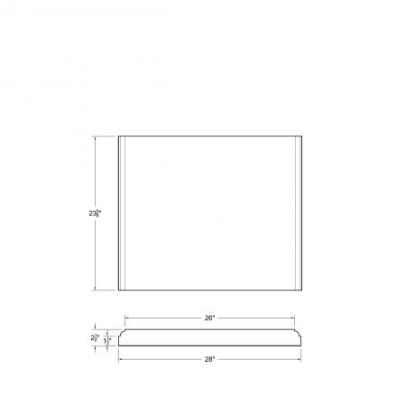M23 S DS 26x23-5/8x1-1/2