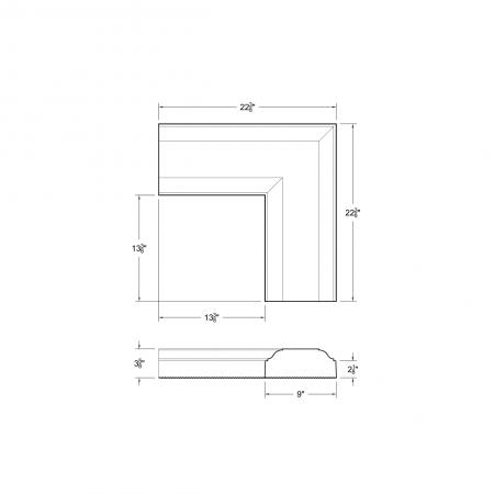3738-Precast Moldings:M33 CF 9*13-3/8